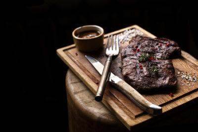 beef steak. piece of grilled bbq beef