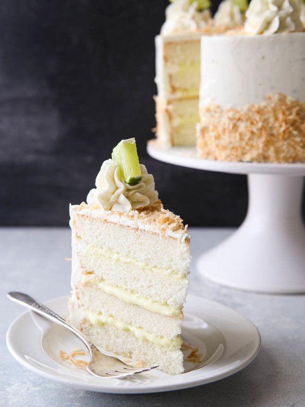 Coconut Cream Lime Cake