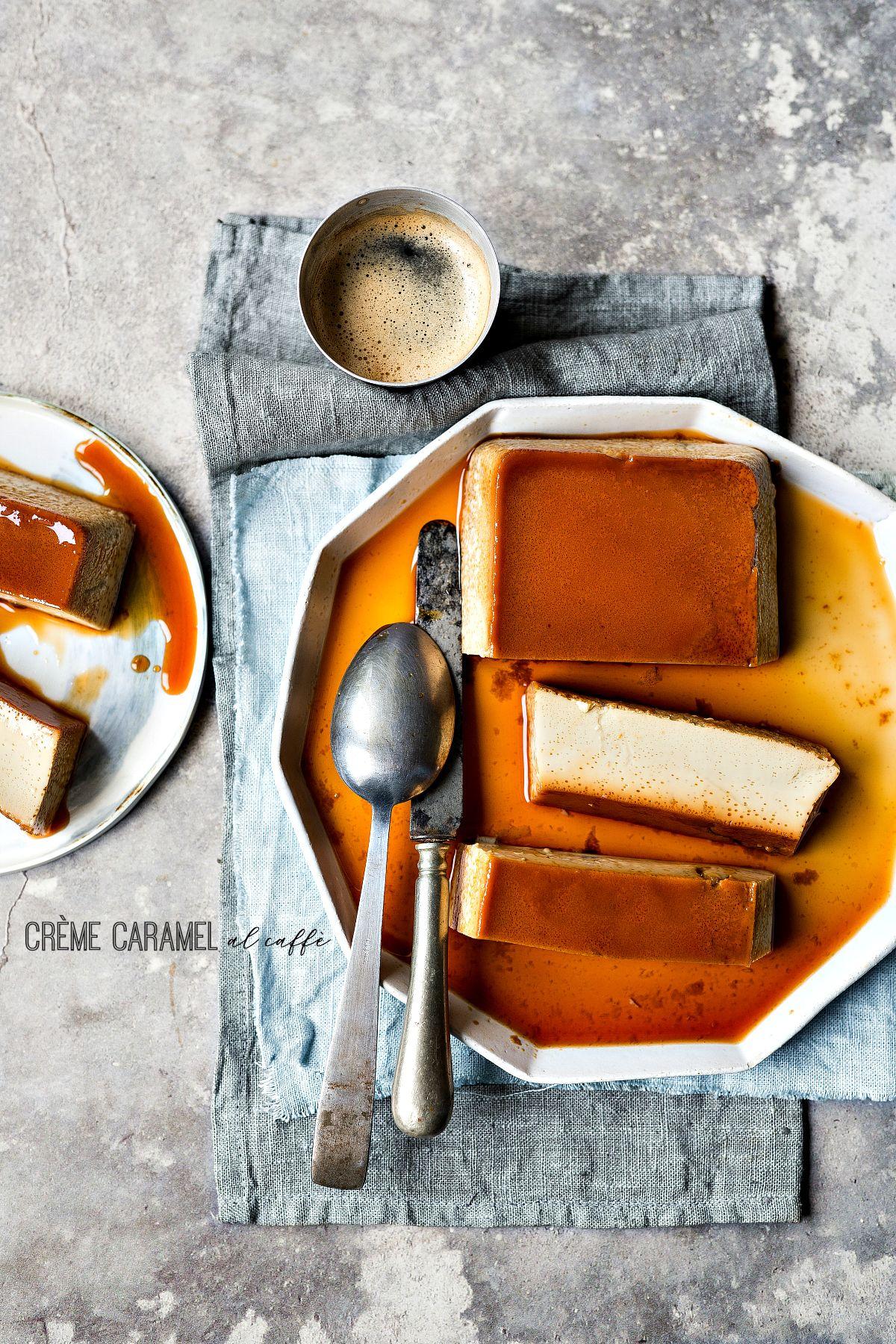 crème caramel al caffè ma anche un budino senza lattosio