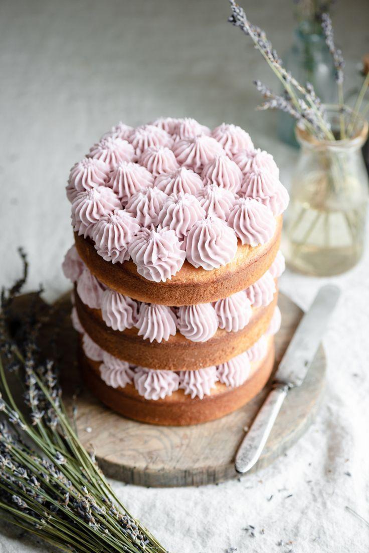 Lavender Buttercream cake