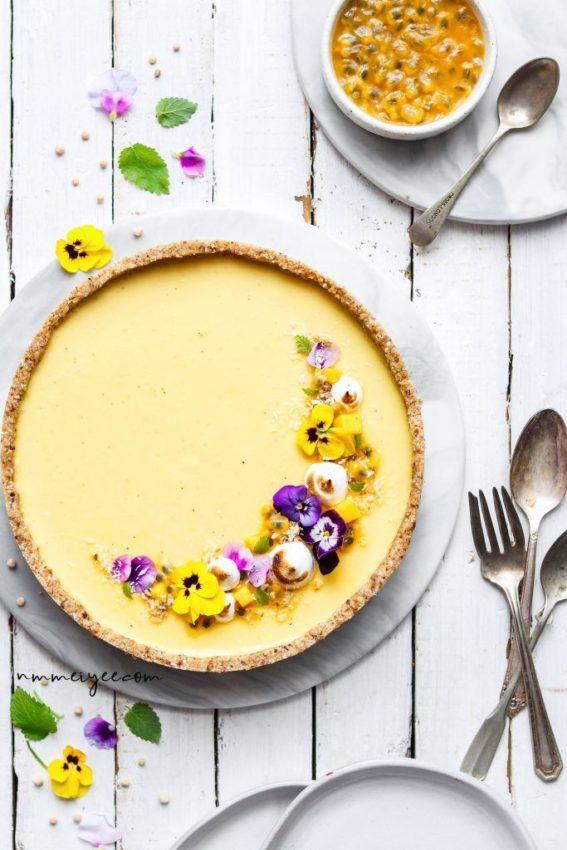 """Passionfruit and Mango cream tart #vegan explore Pinterest""""> #vegan #glutenfree explore Pinterest""""> #glutenfree"""