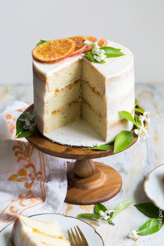 Orange Marmalade Cake with Orange Blossom Buttercream