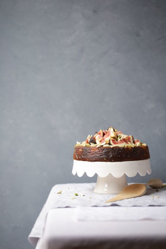 Spiced Orange Pistachio Cake with Fresh Figs and Ginger Syrup
