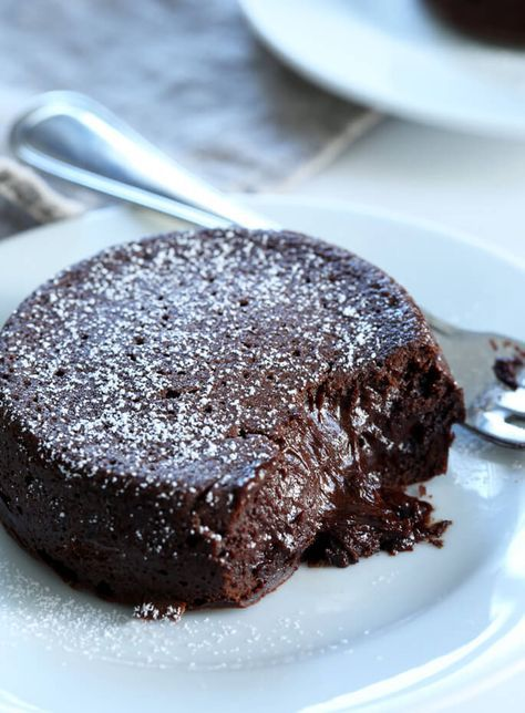 Restaurant-style gluten free chocolate lava cakes with a warm, gooey center. For your Valentine,…